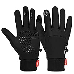 Cevapro winter thermal gloves touchscreen gloves lightweight Cycling running climbing hiking skiing gloves cold weather gloves keep your hands warm anywhere and anytime  Feature: 1. Windproof and water resistant gloves keep your hand warm and...