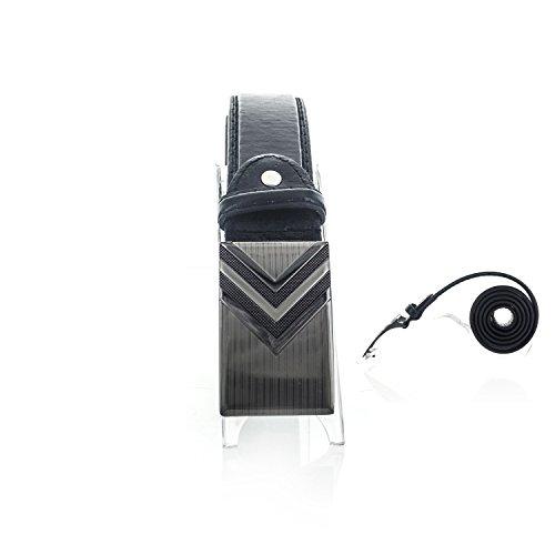 Arrow Leather Belt (Faddism Unisex Genuine Leather Belt Arrow Head - Black)