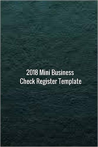 2018 mini business check register template 2018 check sheet log