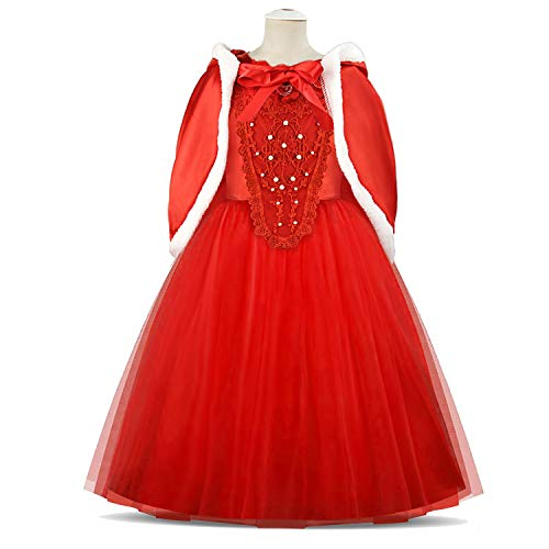 Acecharming Princess Girls' Costume Cosplay Party Fancy Dress Size 120 Red