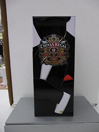 Limited Edition Chivas Regal Scotch Whisky Scotland Designer Bottle Empty Square Aluminum (Scotch Bottle)