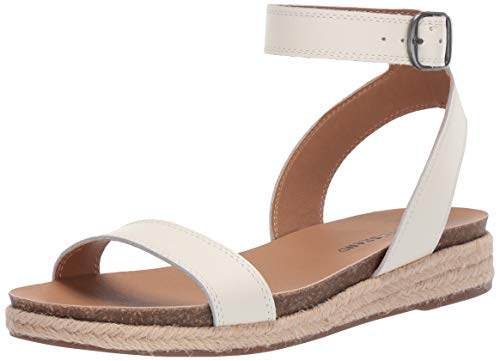 Price comparison product image Lucky Brand Women's GARSTON Espadrille Wedge Sandal,  Milk,  7 M US