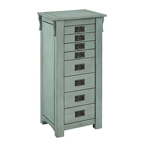 - Powell PAMZN1544 Katt Armoire, Teal