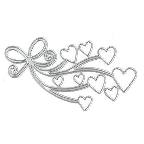 Dies Cut Cutting Die for Cards Making Heart Flower Bows Metal Embossing Stencils for DIY Craft Scrapbooking Photo Album Decorative Paper Gift (Dies 28 Heart Bows)