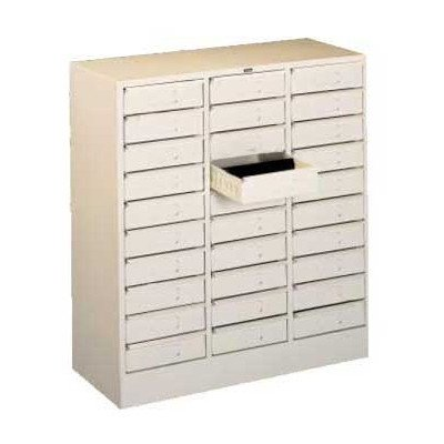 30 Drawer Organizer, Legal Size Color: - Tennsco 30 Organizer Drawer