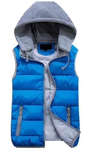 Donne Cappuccio Con Staccabile Eku Inverno Imbottito Outwear Gilet Blu PqdUc7w