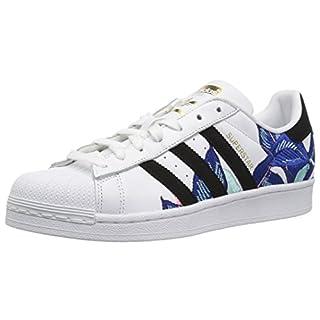 adidas Originals womens Superstar Sneaker, White/Black/Gold Metallic, 9 US