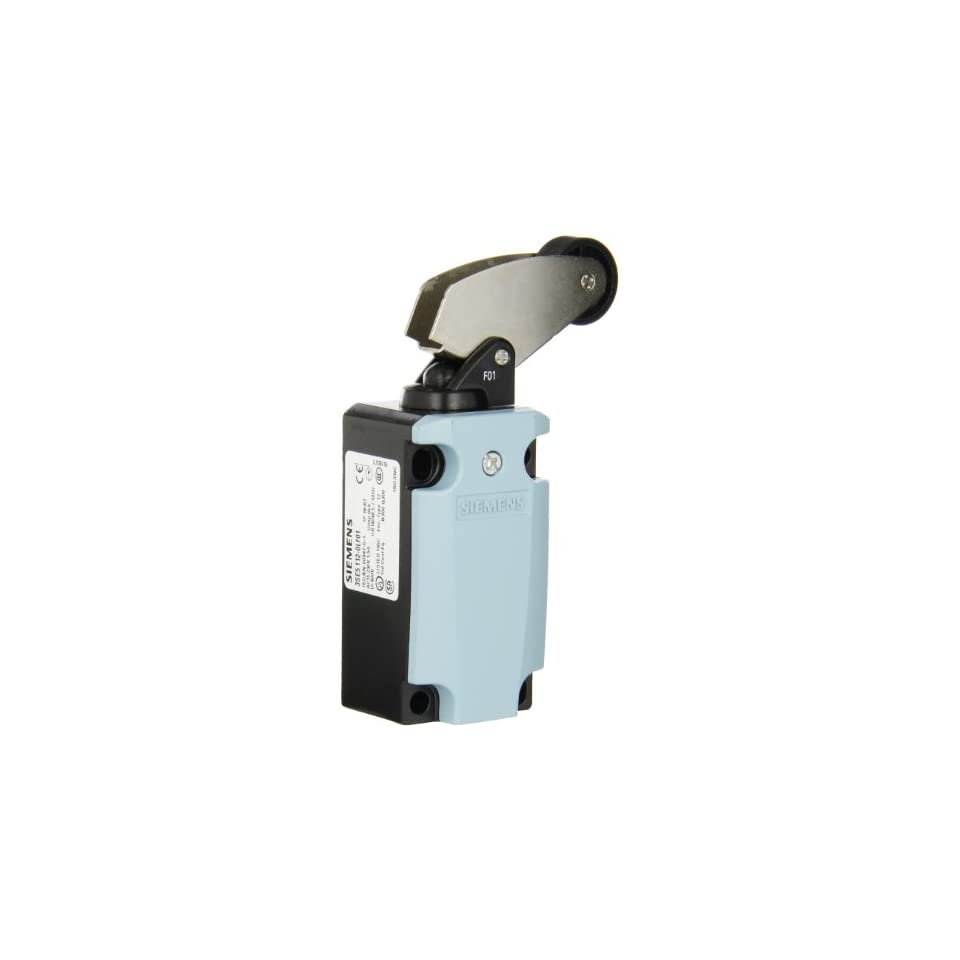 Siemens 3SE5 112 0LF01 International Limit Switch Complete Unit, Angular Roller Lever, 40mm Metal Enclosure, Metal Lever, 22mm Plastic Roller, Snap Action Contacts, 1 NO + 2 NC Contacts