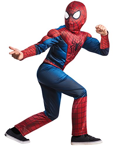 Spider Man Deluxe Mask - Rubie's Marvel Comics Collection, Amazing Spider-man 2, Deluxe Spider-man Costume, Child Small - Child Small One Color