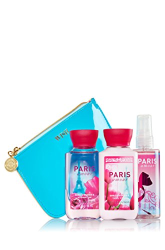 Bath and Body Works Cosmetic Bag Travel Gift Set Paris Amour