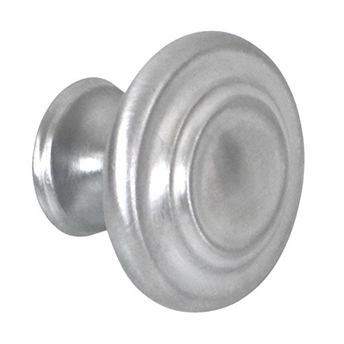 (Seasons 1 1/4 Inch Zinc Die Cast Cabinet Knobs with Satin Chrome Finish, 25 Pack)