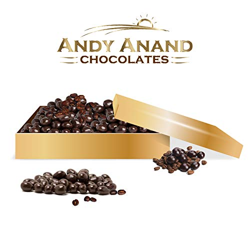 Andy Anand's Chocolates - Premium California Coffee Espresso Beans covered with Rich Dark Chocolate in a Gift Box, All Natural and Certified made from Natural Ingredients - 1LBS