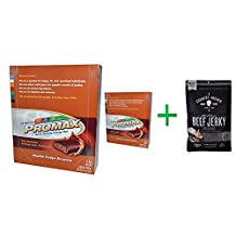 Promax Nutrition, Energy Bars, Double Fudge Brownie, 12 Bars, 2.64 oz (75 g) Each(2 PACK )+ Country Archer Jerky, All Natural Beef Jerky, Original, 8 oz (226.8 g)