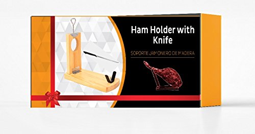 h07 QUALITY Professional serrano iberian ham stand Gondola rack holder FOLDABLE + FREE Knife - gift idea BOXED truevine