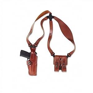 Galco Vertical Shoulder Holster System for Glock 19, 23, 32 (Tan, Ambi)