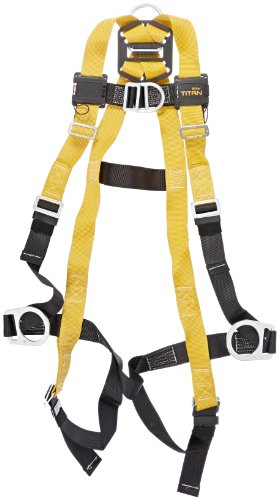 Miller Titan by Honeywell TF4007FD/S/MAK Polyester T-Flex Stretchable Harness with Front D-Ring Vest-Style, Small/Medium