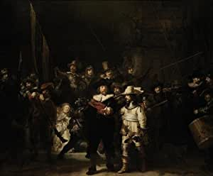 Oil painting 'Rembrandt Harmenszoon van Rijn-The Night Watch,17th century' printing on Cotton Canvas , 12x15 inch / 30x37 cm ,the best Garage decoration and Home gallery art and Gifts is this Amazing Art Decorative Canvas Prints