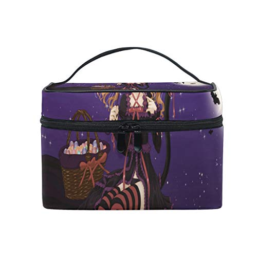 Travel Cosmetic Bag Special Halloween Anime Wallpaper Toiletry Makeup Bag Pouch Tote Case Organizer Storage For Women Girls ()