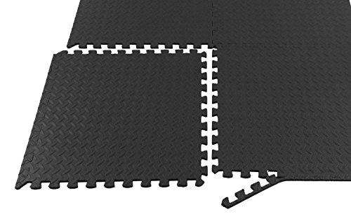 Tenive 216 Square Feet 54 Tiles Puzzle Exercise Mat Anti-Fatigue EVA Foam Interlocking Tiles Gym Flooring