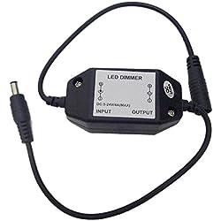 LEDENET Easy Plug Inline PWM LED Dimmer Controller for Single Color LED Lighting (Dimmer)