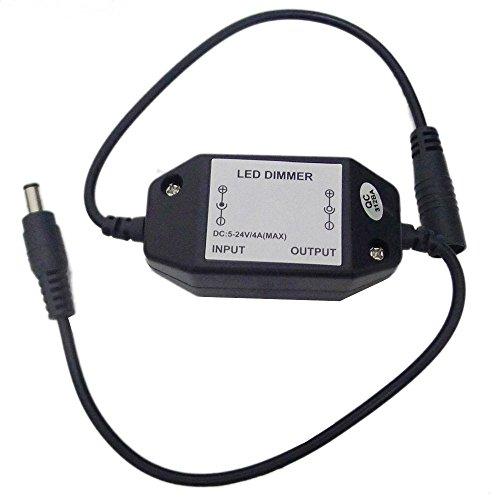 LEDENET Easy Plug Inline PWM LED Dimmer Controller for Single Color LED Lighting (Dimmer) ()
