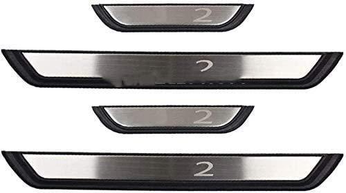 4 stks Rvs Auto Instaplijsten Protector voor Mazda 2 2014-2017 2018 2019 2020, Scuff Guard Antislip Pedaal Styling…