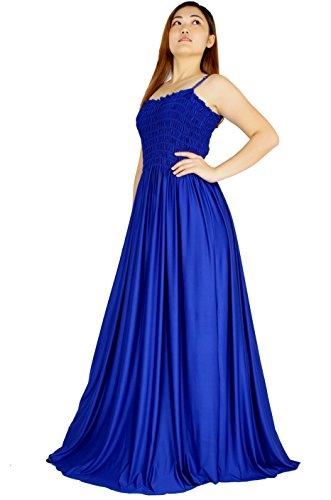 Plus Size Dress Maxi Evening Formal Gown Bridesmaid Ball Gala Long Party Women Sexy (2X-Long 58 inch, Royal Blue)
