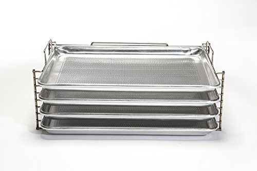 Bull Rack - BR4 - Grill Tray System - Grill, Smoke, Dry and Cure Meats and Vegetables - Grilling Rack and Tray by Bull Rack