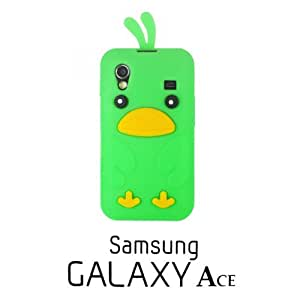 OnlineBestDigital - Chick Style Soft Silicone Case for Samsung Galaxy Ace - Green