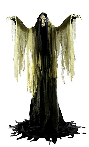 UHC Scary Haunted House Hagatha The Towering Witch Animated Halloween Prop