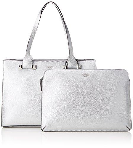 Bags Mujer de 5x28x39 cm GUESS Silver Plateado Shoppers bolsos L H W x y hombro Hobo 14 d0wgAUn4