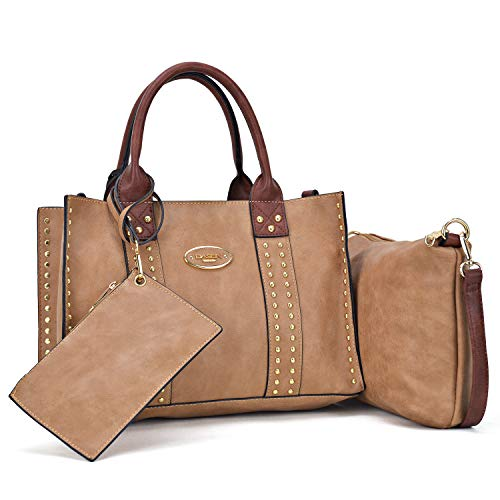 Dasein Designer Tote Purse Satchel Handbag Faux Leather Shoulder Bag Top Handle Bag