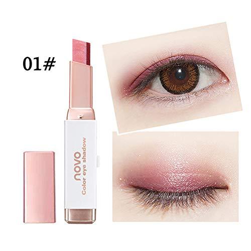 Oksale Two-Color Gradient Eye Shadow Stick Shimmer Palette E