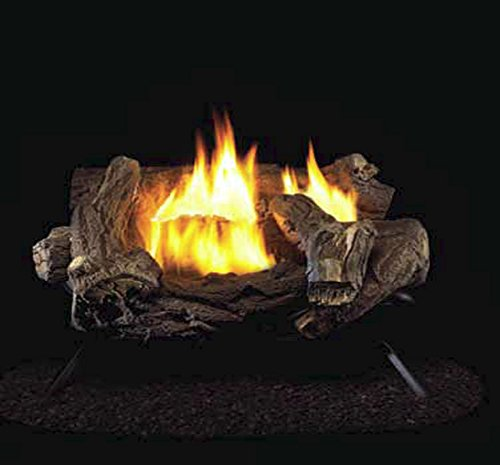 ProCom Split Hickory Ventless Gas Logs - Manual Control - 18 inch - Propane Only