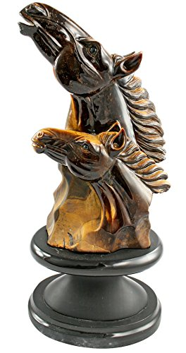 AMC Tiger's Eye Horse Gemstone Carving One of a Kind
