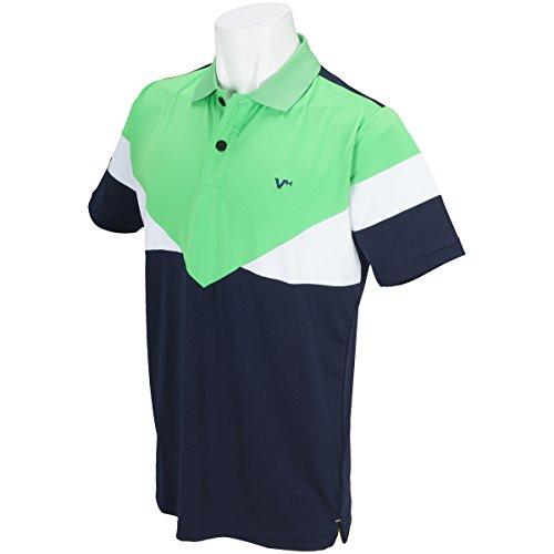 ビバハート VIVA HEART 半袖シャツ?ポロシャツ Melange Spandex 配色半袖ポロシャツ