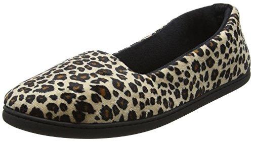 Dearfoams Closed Back - Pantuflas Mujer Multicolour (Leopard)