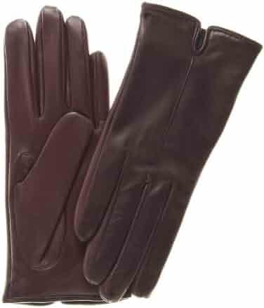 b5134fd6ecbca Fratelli Orsini Women's Touchscreen Italian Cashmere Lined Leather Gloves