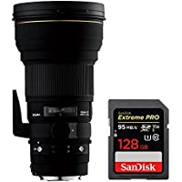 Sigma 300mm f/2.8 EX DG IF HSM APO Telephoto Lens for Canon SLR Cameras (195101) with Sandisk Extreme PRO SDXC 128GB UHS-1 Memory Card