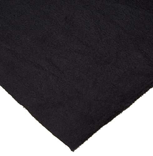 4 Yard Bolt Anti Pill Black Fleece Polyester Fabric