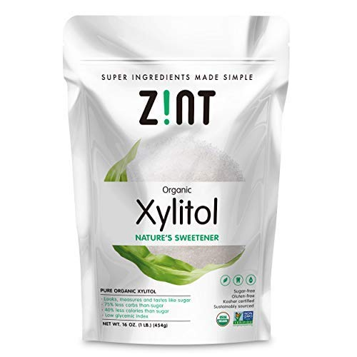 Zint Organic Xylitol Sweetener: Natural Sugar Free Substitute, Non GMO, Low Glycemic Index, Measures & Tastes Like Sugar (16 ounces) by Zint (Image #9)