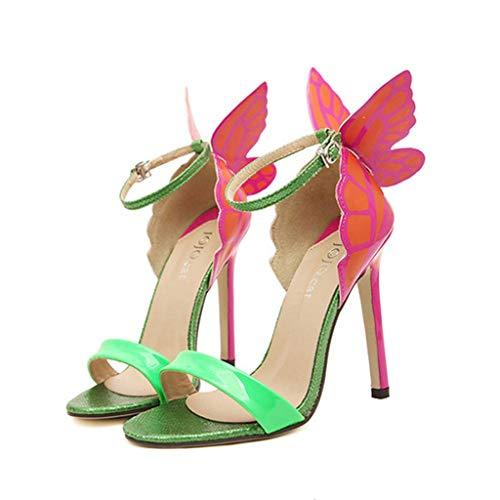 Satin Bebe (Women's Sandal -Sandals Wide Width for Women-Women's Dance Shoes Ballroom Performance Latin Salsa Dancer Shoe with 2.5