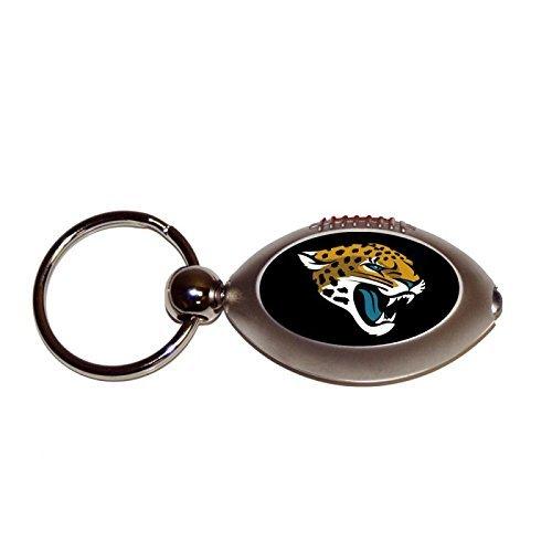Team Sports America NFL Jacksonville Jaguars C303818BFootball Flashlight Key Ring - Jacksonville Jags, - Team Chain Nfl