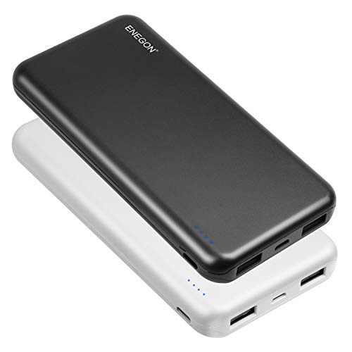 ENEGON 2-Pack Portable Power Bank 10000mAh, The Phone Charger Battery with USB C Input and Dual USB Output for iPhone…