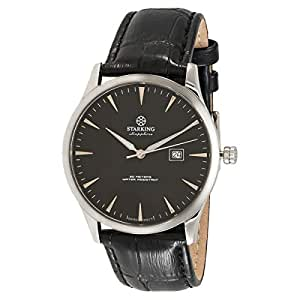 Starking Men's Black Dial Leather Band Watch - BM0870SL22