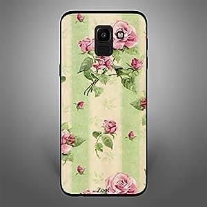 Samsung Galaxy J6 Cream green flowers