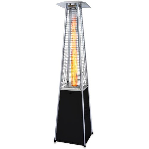 Garden Radiance GRP4000BK Dancing Flames Pyramid Outdoor Patio Heater with Black Base (Heater Patio Base)