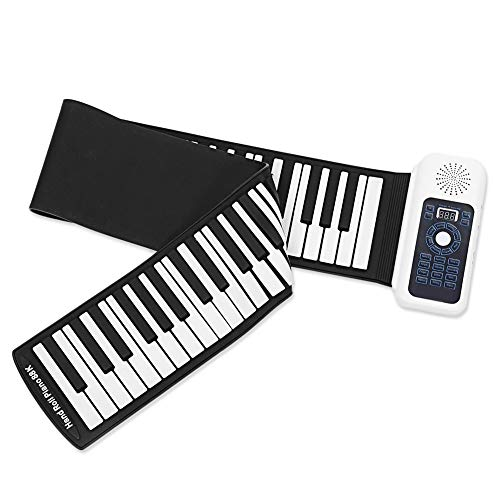 [해외]WWYH 88-Key Hand Roll Piano Folding Portable Electronic Musical Instrument Environmentally Friendly Silicone Keyboard 128 Sounds Teaching Function Kid Adult Toy Beginner Piano / WWYH 88-Key Hand Roll Piano, Folding, Portable, Elect...