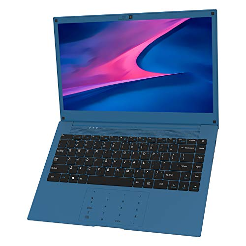 Laptop 14 inch, VUCATIMES 14'' FHD Laptop, Intel Celeron Quad-Core, 6GB RAM 128GB SSD, Dual Band Wi-Fi Laptop Computer, Removable Webcam, Numeric Keypad, Blue