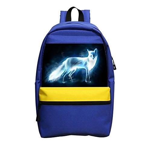 Price comparison product image OO9MN Fox Patronus Student School Backpack Bookbag Shoulder Casual Daypack For Boys And Girls